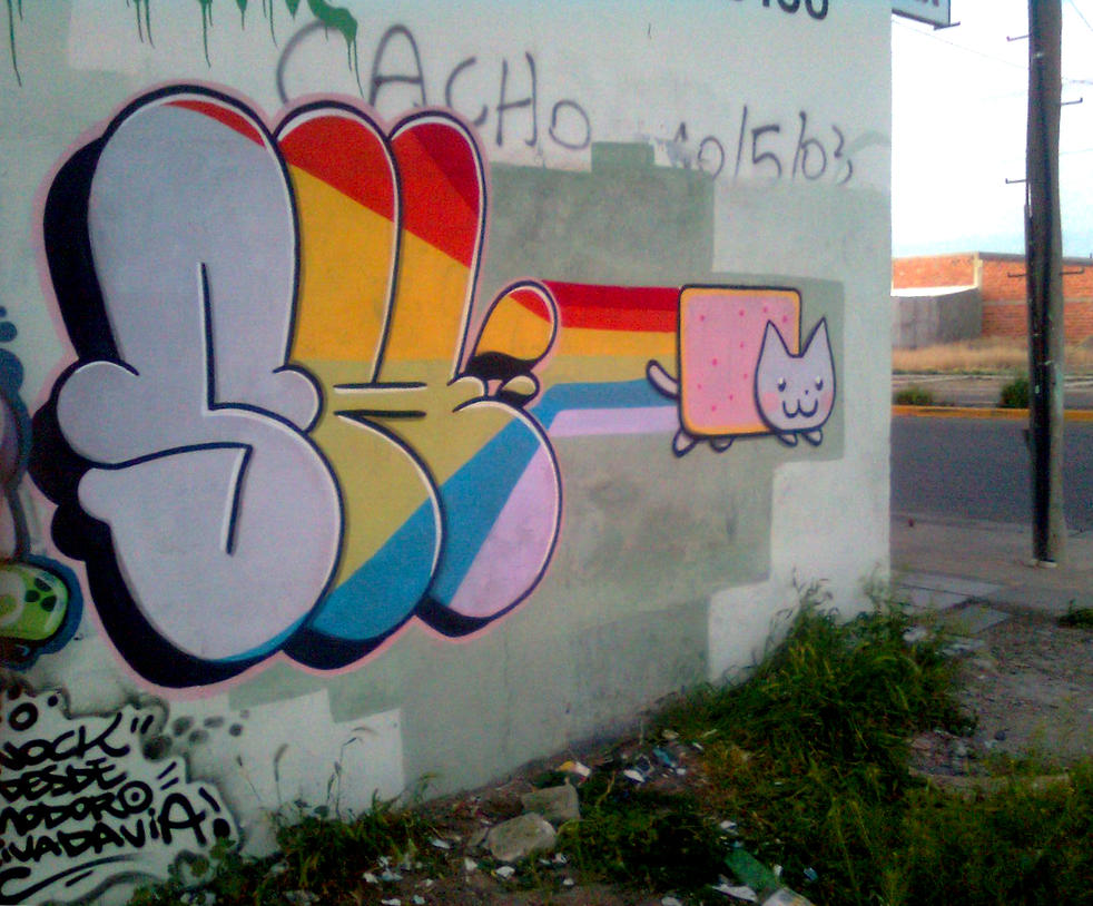 T-Up 28 - Nyan cat Graffiti! (1) by ShinodaGE