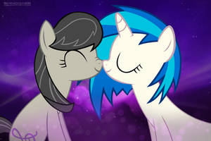 Octavia and Vinyl Scratch Snuggles by ShinodaGE