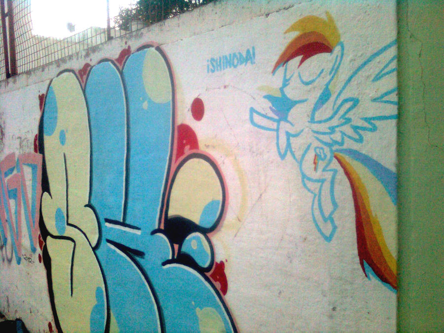 Rainbow Dash Graffiti by ShinodaGE