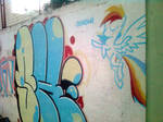 Rainbow Dash Graffiti