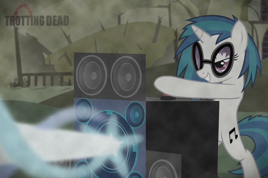 The Trotting Dead - Vinyl Scratch by ShinodaGE