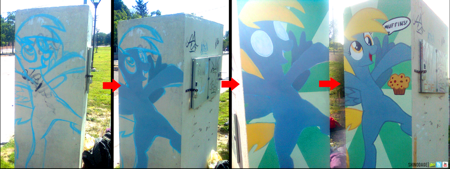 Derpy Hooves Graffiti (Process) by ShinodaGE