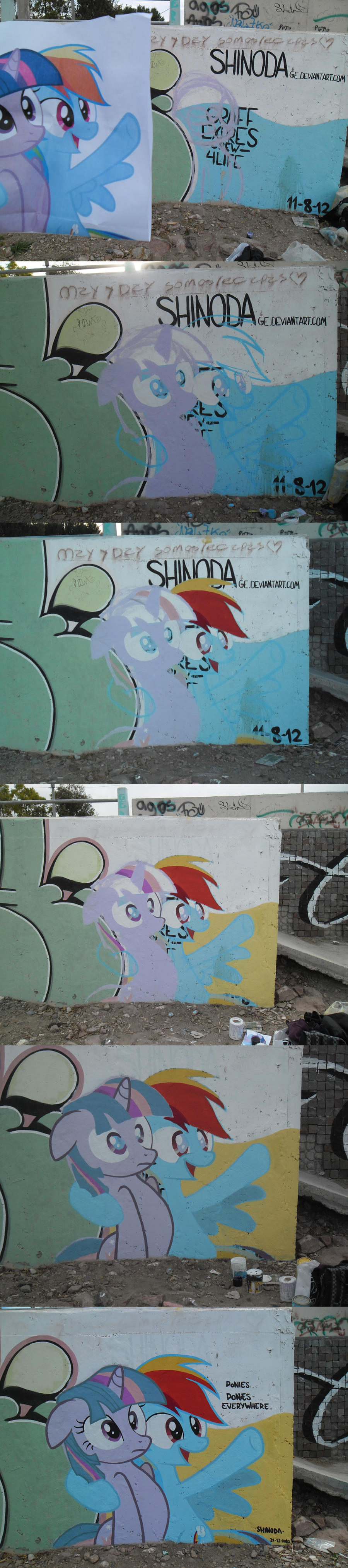 Ponies Everywhere Graffiti (Step by Step) by ShinodaGE