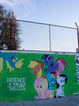Patience - Mane Six and Derpy Graffiti