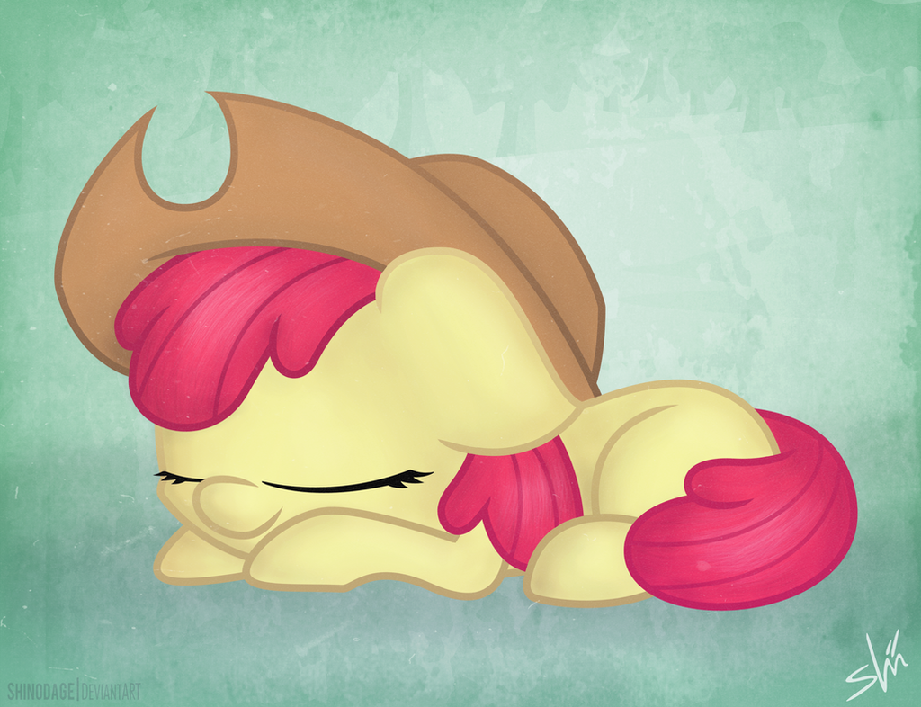 Apple Bloom's nap by ShinodaGE