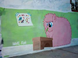 Fluffle Puff Graffiti
