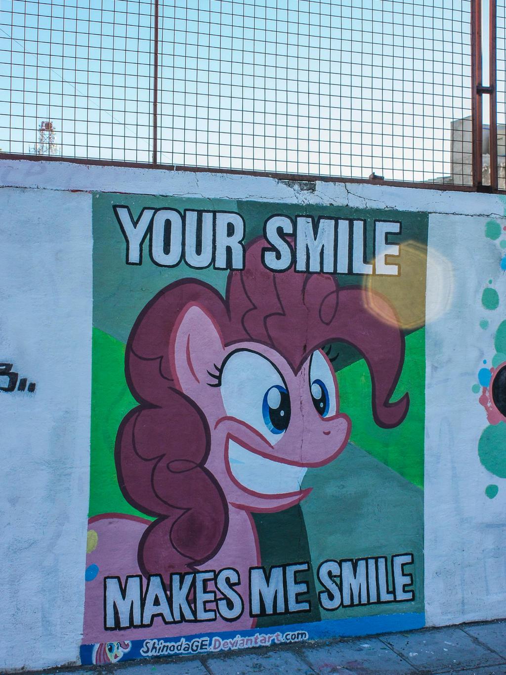 Pinkie Pie Meme Graffiti