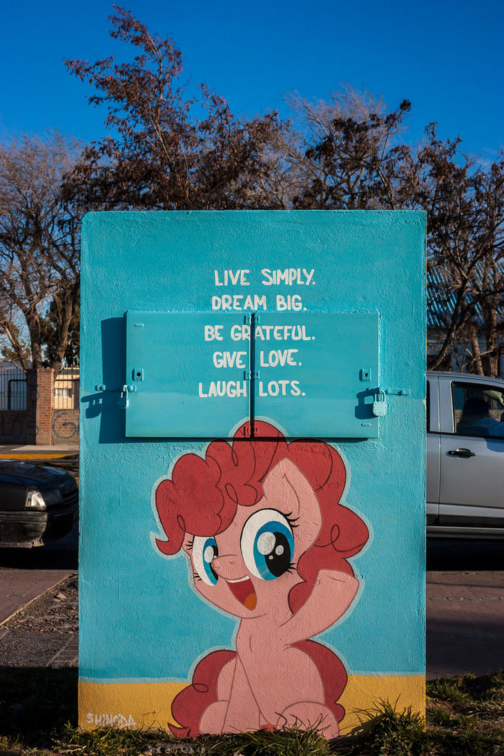 Laugh Lots - Filly Pinkie Pie Graffiti by ShinodaGE