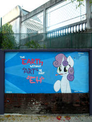 eARTh - Sweetie Belle Graffiti by ShinodaGE