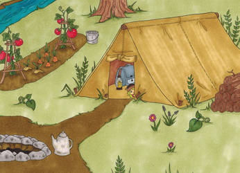 Setting Up Camp by csgraphics