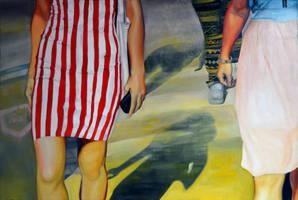 Walking on a dream, 2013, 120-80cm, oil on canvas by oanaunciuleanu