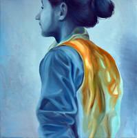 Heartbeat, 2013, 50-50cm, oil on canvas by oanaunciuleanu