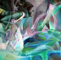 Fantasy, 100-100cm, 2015, oil on canvas by oanaunciuleanu