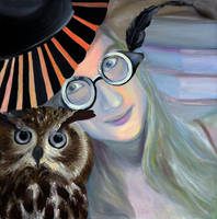 Who are you calling 4 eyes, 2011, 50-50cm, oil on  by oanaunciuleanu