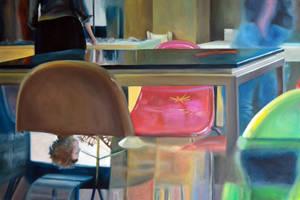 Reflection, 2011, 120-80cm, oil on canvas by oanaunciuleanu