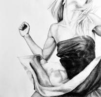Adrenaline, 2015, 50-50cm, graphite crayon by oanaunciuleanu