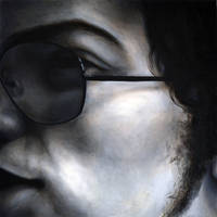 Zoom in, 2010, 100-100cm, oil on canvas by oanaunciuleanu