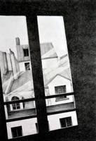Through my Paris window, 2011, 50-70, crayon
