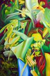 Escape To Fantasy, 120-80cm, 2016, oil on canvas