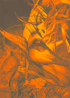 Burning Flame, 2016, 50-70cm, graphite crayon by oanaunciuleanu