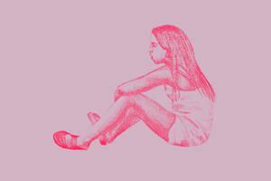 Listening, 2016, 19-28cm, graphite crayon on paper by oanaunciuleanu