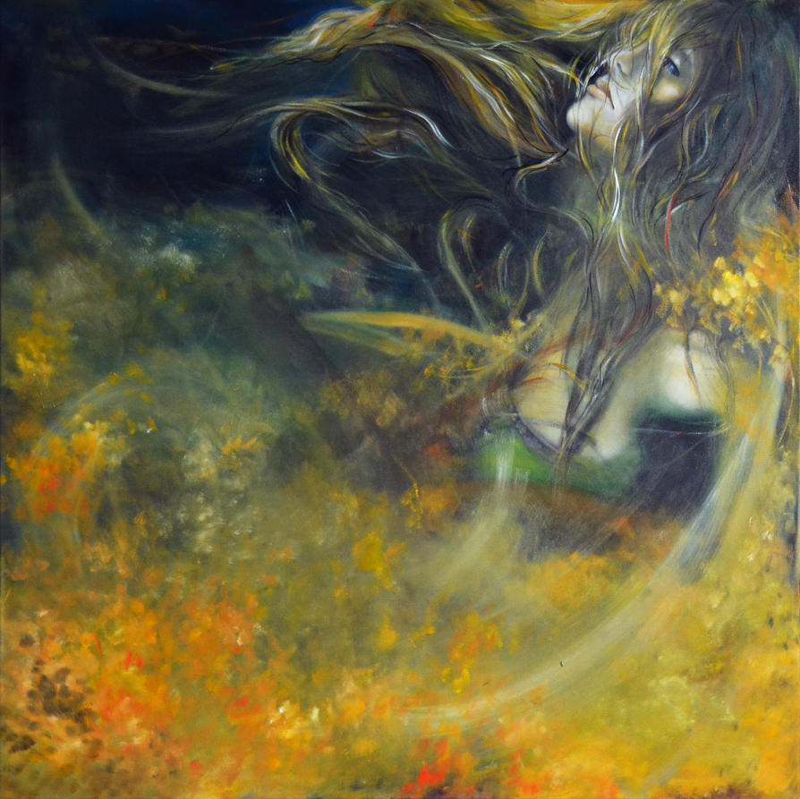 Saving My Heart, 100-100cm, 2017, oil on canvas by oanaunciuleanu