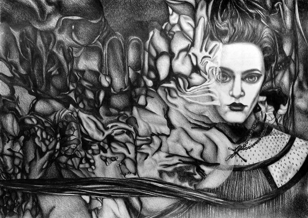 Into the Deep Unknown, 2018, 50-70 cm, graphite by oanaunciuleanu