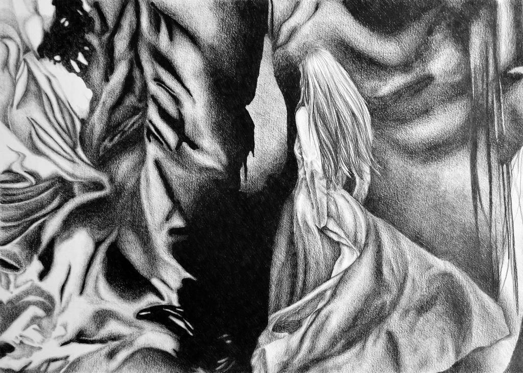 Dragonstone, 2018, 50-70cm, graphite crayon on by oanaunciuleanu