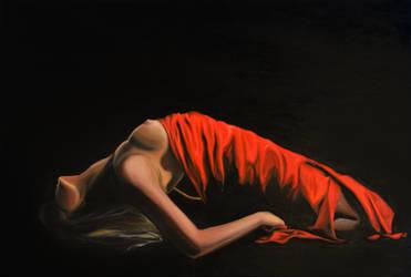 I'm breaking down, 120-80cm, 2018, oil on canvas by oanaunciuleanu