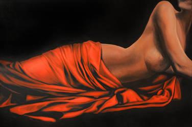 Unfurl, 120-80cm, 2018, oil on canvas by oanaunciuleanu