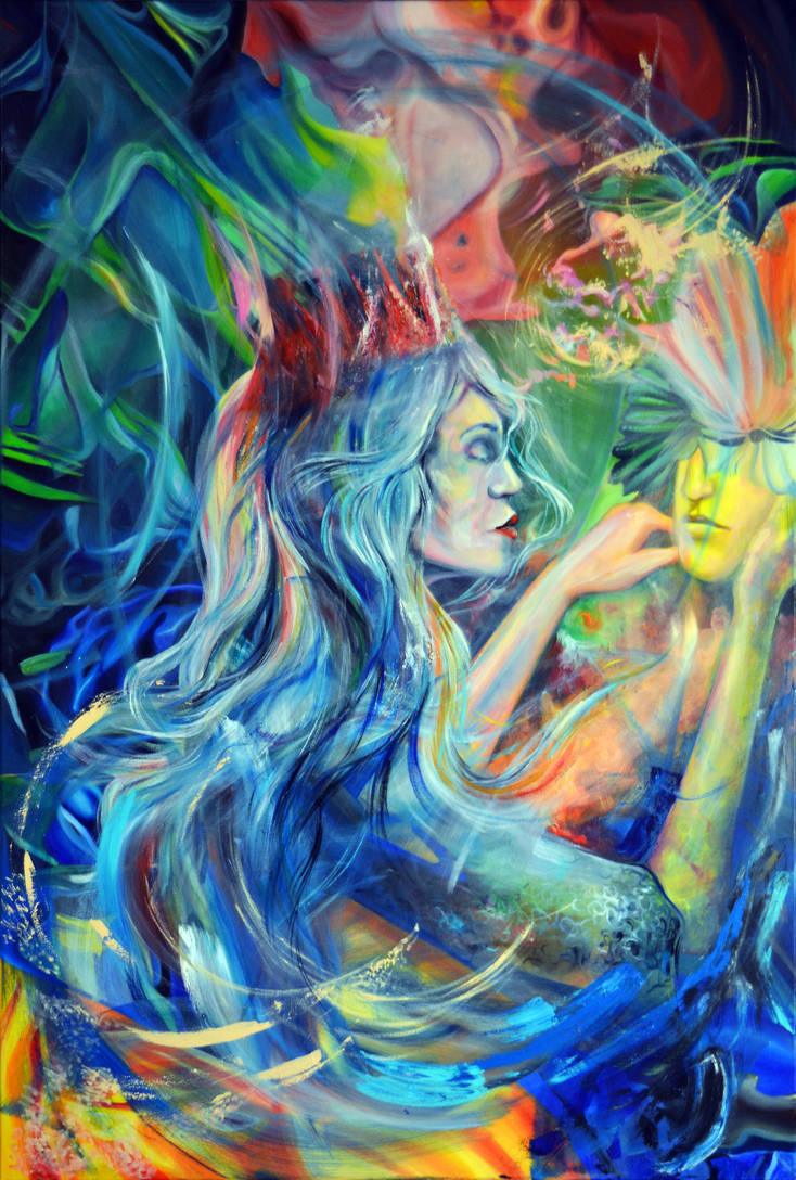 Open your mind, 120-80cm, 2019, oil on canvas by oanaunciuleanu