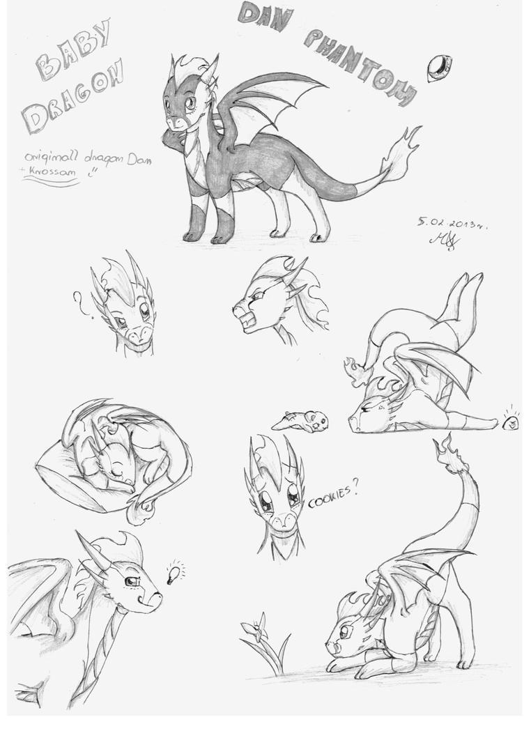 sketch baby dragon dan by bajecznamirra on deviantart