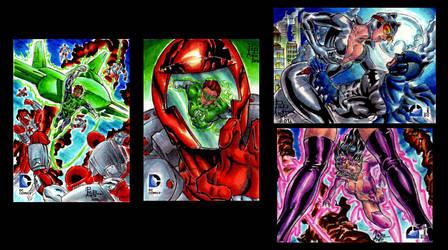DC Epic Battles Sketch cards AP by ChrisPapantoniou