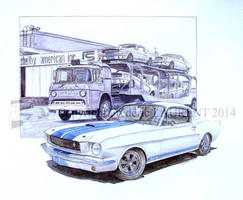 Bl - Mustang Shelby 350 GT 1965 - 2014 - 32 x 41 by fredlaurent47