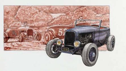 Bl- Ford A Hot rod - 2013 - 32 x 41