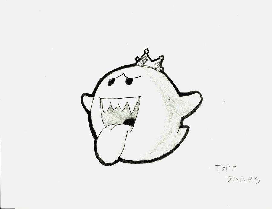 King Boo Nintendo Ghost Drawing Www Picsbud Com