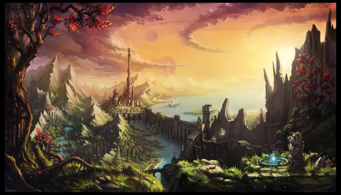 fabulously beautiful landscape by haryarti