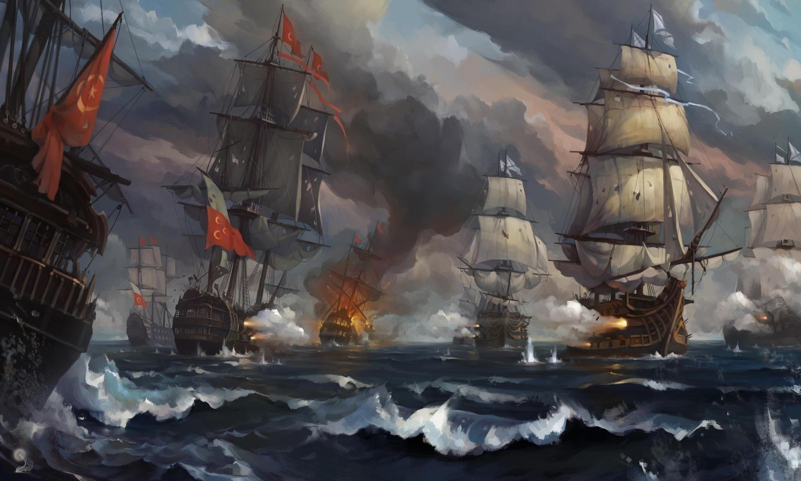 Sea Battle By Haryarti On Deviantart