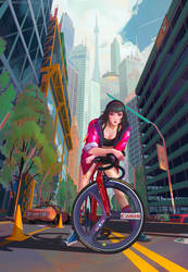 Fixie Girl by haryarti