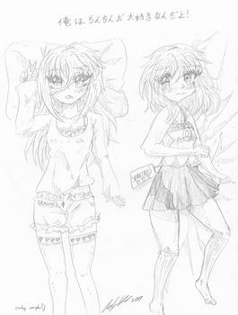 Maira and Alice daki sketch