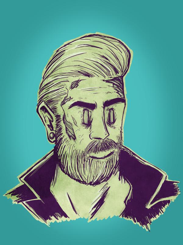 Bearded by coxao