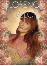 Florence Welch Portrait by Klalier13
