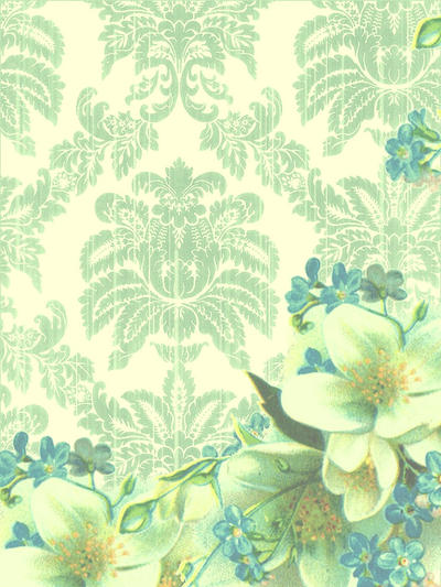 LimeGreen and Blue Floral by Bnspyrd