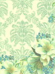 LimeGreen and Blue Floral