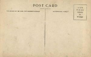 Vintage Postcard Back 2 by Bnspyrd