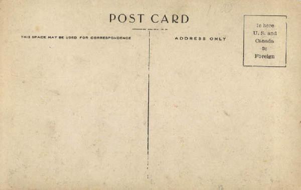 postcard back template
