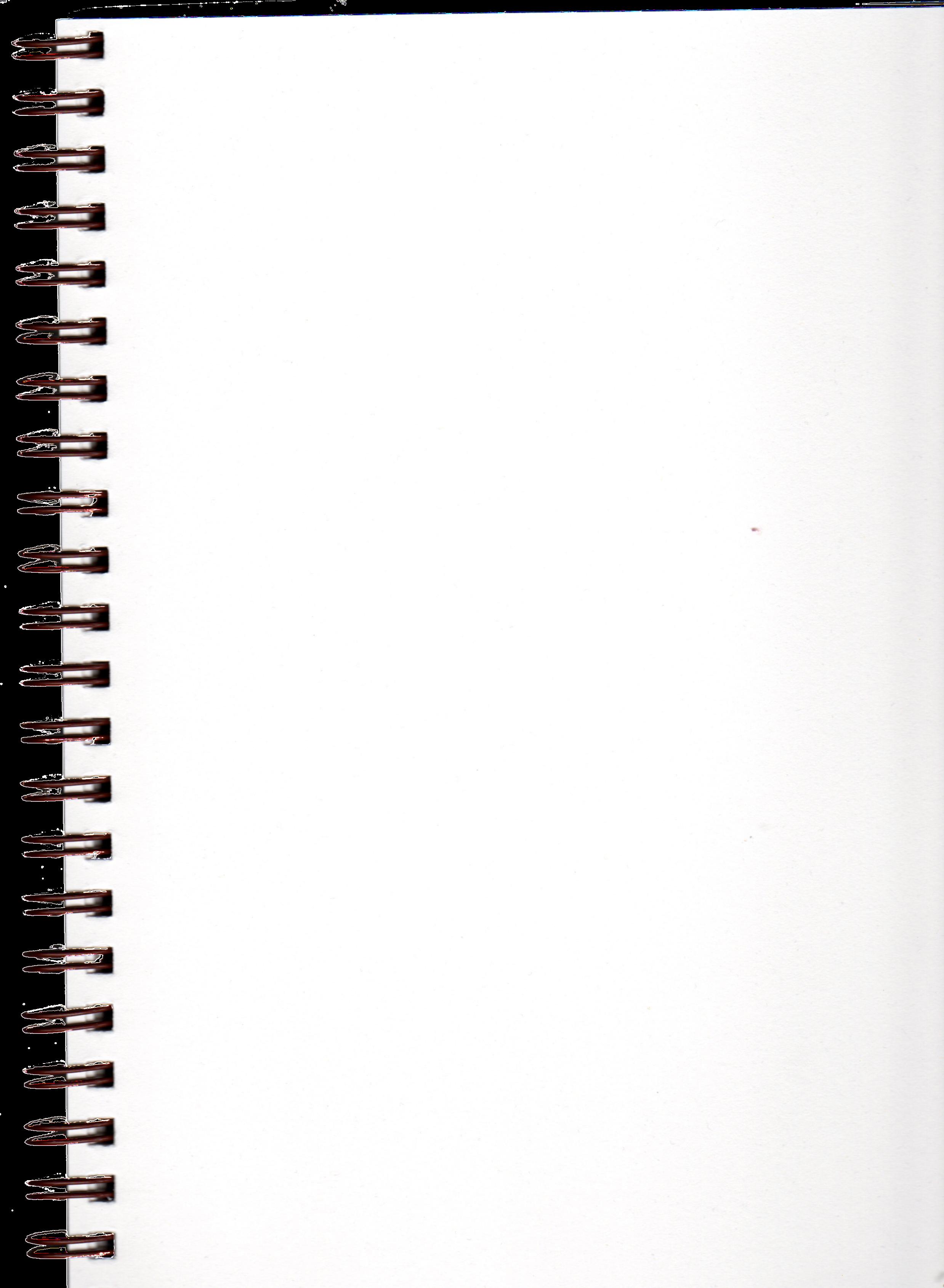 Pre Cut Blank Spiral Notebook Page By Bnspyrd On Deviantart