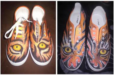 Bnspyrd Tiger Eyes Custom Kicks