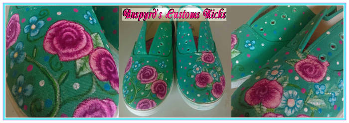 Bnspyrd Floral Custom Kicks