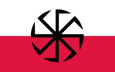 Kolovrat Poland (Flag seen on Youtube) by KrwiiKorzeniePolska